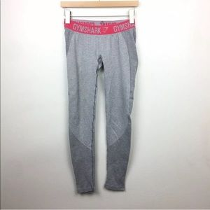 Gymshark Flex Gray Pink Leggings Pants Medium
